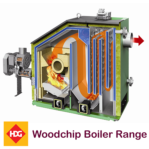 HDG woodchip boiler range supplied by Glas