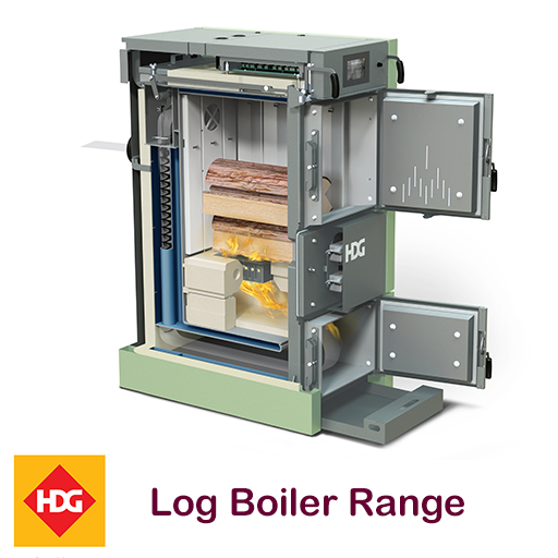 HDG Log boiler range supplied by Glas